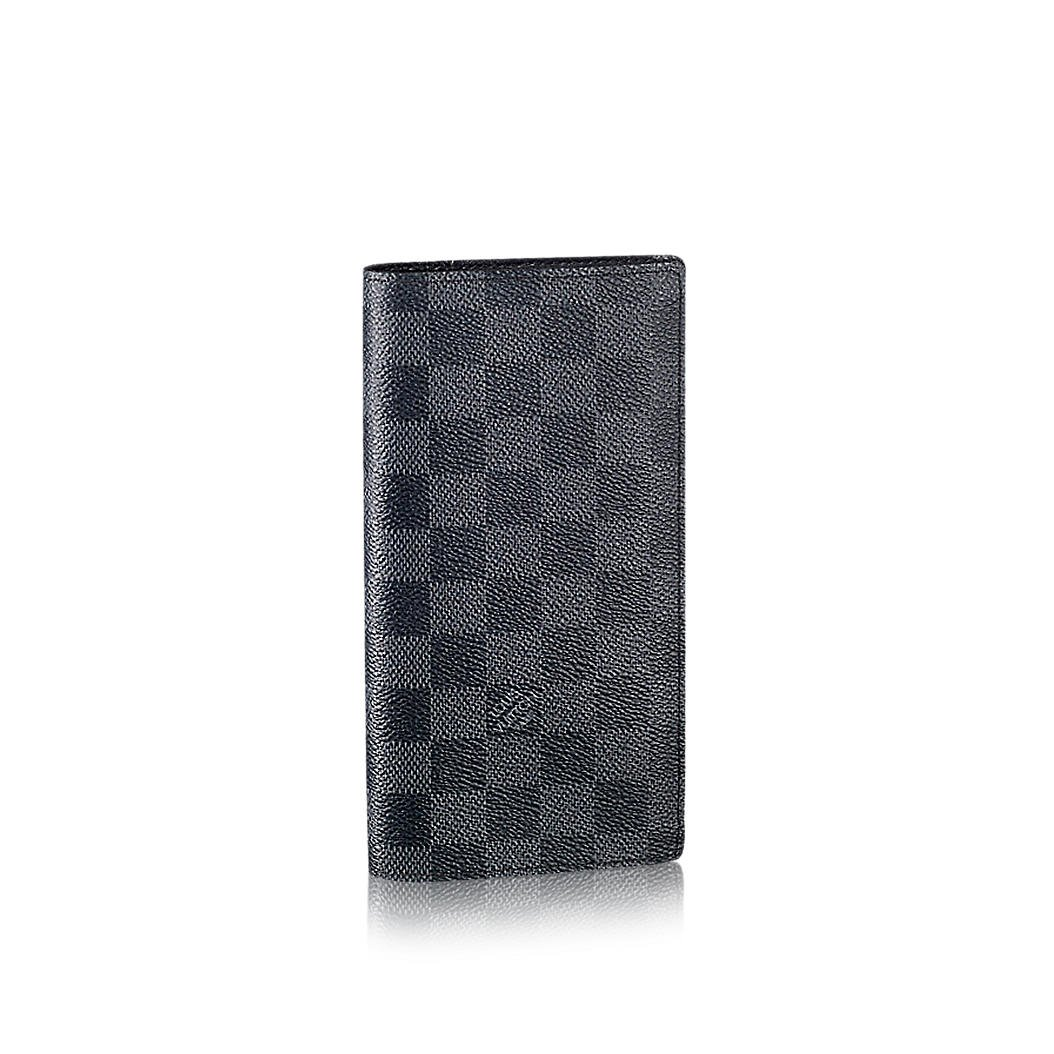 Louis Vuitton Damier grafito lienzo Brazza Wallet n62665 ...