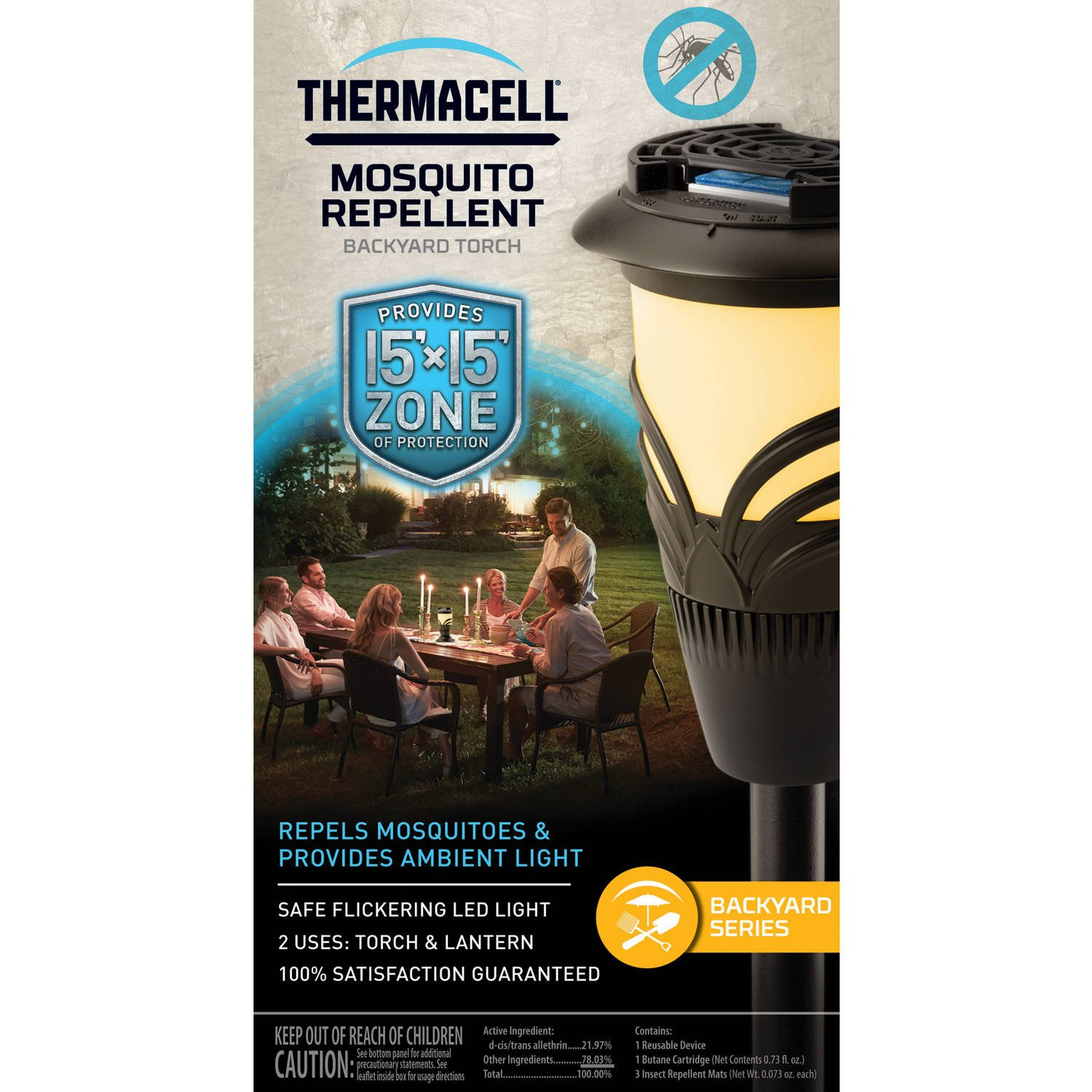 amazon com thermacell backyard outdoor torch lantern mosquito