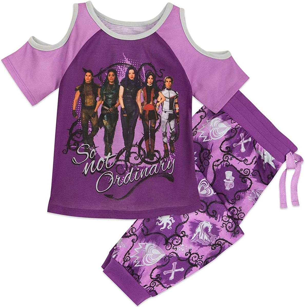 descendants 2 Girls Summer Casual Dress Pajamas Clothes Nightgown Sleepwear