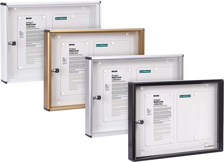 Arregui PAN42 Panel de Anuncios de aluminio y metacrilato con capacidad para 2 hojas DIN A4: Amazon.es: Bricolaje y herramientas