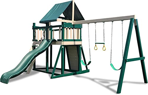 CONGO Monkey Playsystem 1 with Swing Beam – Green and Sand Low Maintenance Play Set