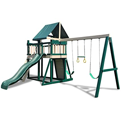 Amazon Com Congo Monkey Playsystem 1 With Swing Beam Green And