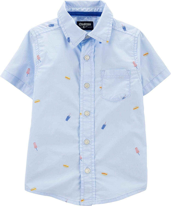 OshKosh B'Gosh Boys' Toddler Short-Sleeve Woven Top
