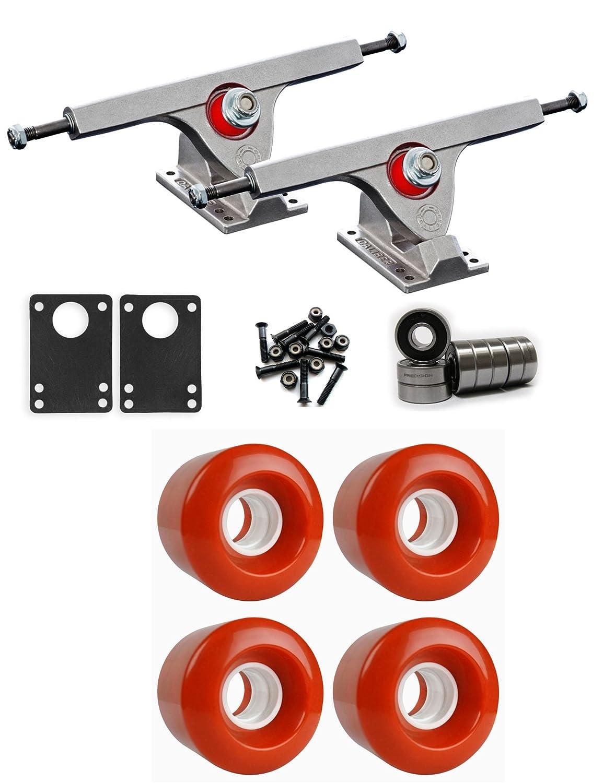 Caliber Raw Longboard Trucksホイールパッケージ60 mm x 47 mm 83 a 180 Cオレンジ   B01IJ8HUI4