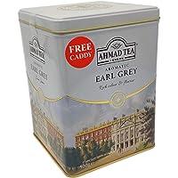 Ahmad Tea Aromatische Earl Grijze Thee - 500g Losse Blad Thee Metaal Caddy (UK-Uniek)