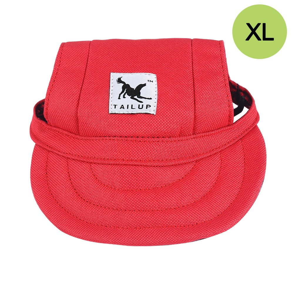CALIFORNIA CADE ELECTRONIC Cade Pet Baseball Cap/Dogs Sport Hat/Visor Cap with Ear Holes for Small Dogs (Red-XL)