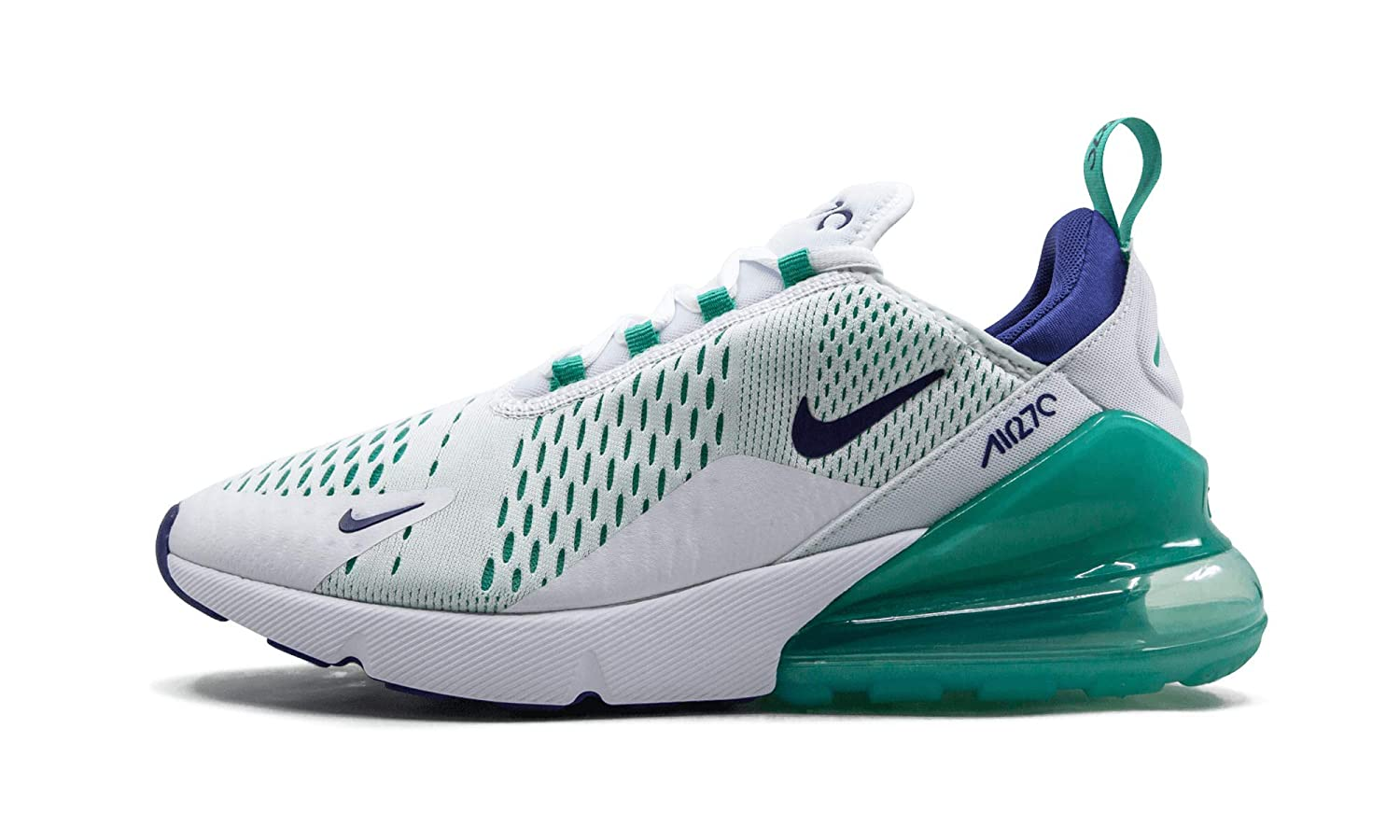 buy popular 13bba c75d3 Amazon.com | Nike Air Max 270 (White/Hyper Jade, 9.5) | Shoes
