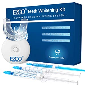 Teeth Whitening Kit with LED Light, 10min Fast-Result Teeth Whitening, Non-Sensitive Teeth Whitener and Teeth Whitening Gel Pen, Carbamide Peroxide Tooth Whitening Remove Stains from Coffee and Soda