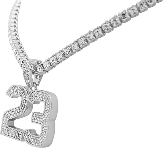 Amazon.com: Blanco Tono Dorado Iced Out Hip Hop Bling Jordan ...