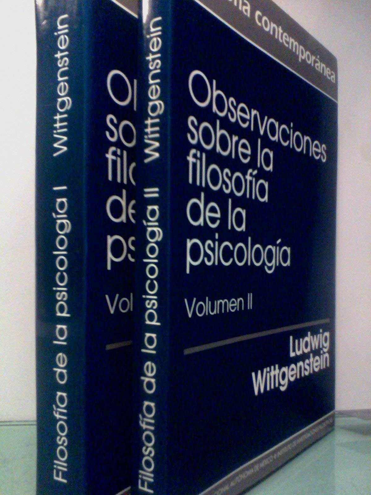OBSERVACIONES SOBRE LA FILOSOFIA DE LA PSICOLOGIA.: Ludwig ...