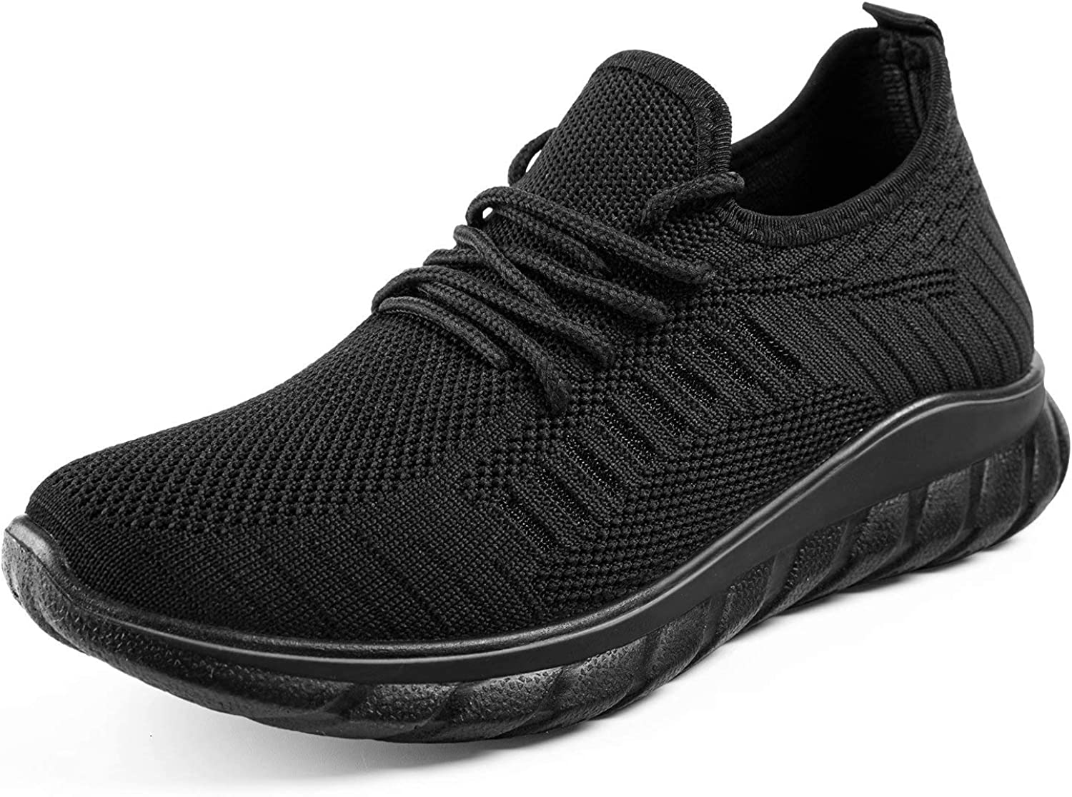 MUSSHOE Walking Shoes Women Slip On Running Shoes Mesh Lace Up Sock Shoes Workout Nursing Running Sneakers for Women Athletic Knit Breath Gym Tennis Loafers
