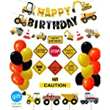 Construction Birthday Party Supplies Dump Truck Party Decorations Kits Set for Kids Birthday Party 51 pack