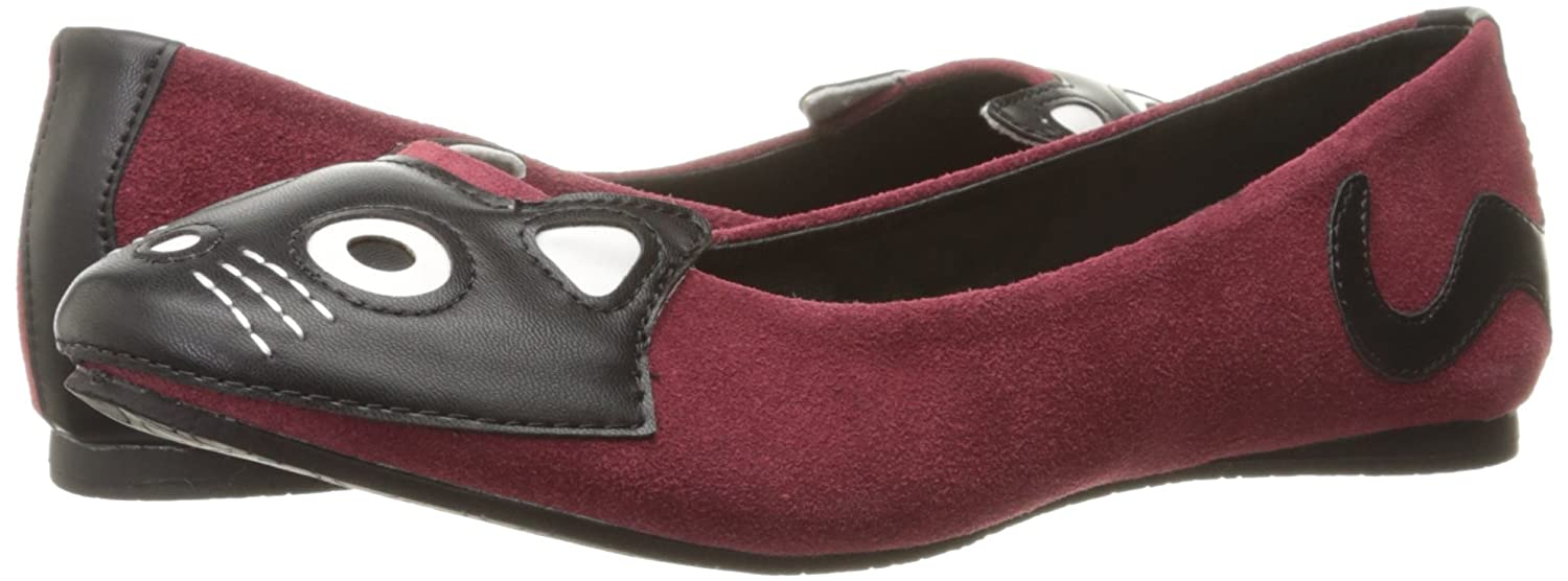 T.U.K. Shoes Women's Burgundy Suede Kitty Flats EU37 / UKW4 VDFRmFPJ