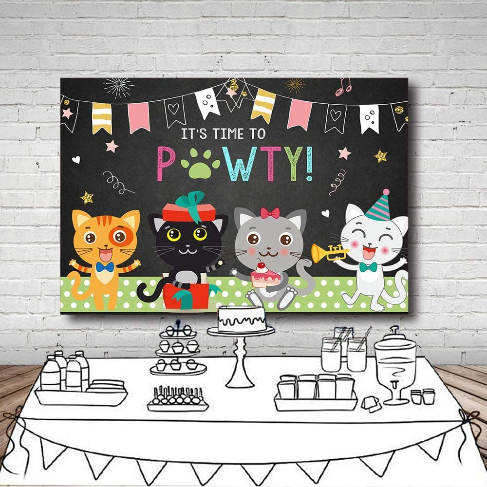 Cat 10x15 FT Photo Backdrops,Cute Kitty Portrait Whiskers Best Pet Animal I Love My Feline Themed Artwork Background for Baby Birthday Party Wedding Vinyl Studio Props Photography Beige Cream Peach