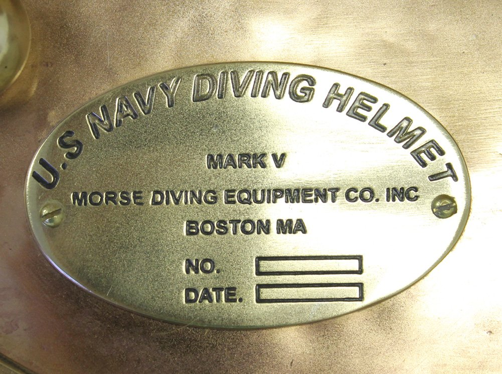 REAL SIMPLE...A HANDTOOLED HANDCRAFTED ''MARK FIVE'' DIVERS HELMET...NAUTICAL DECOR!!