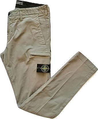 Stone Island - Pantalón de hombre de algodón y elastano 711532110.V0068 Khaki verde caqui 42: Amazon.es: Ropa y accesorios