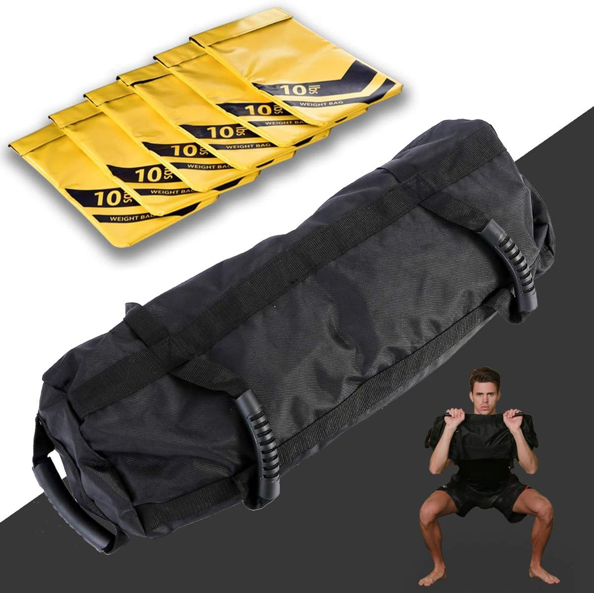 E/ETERMTT Sandbags for Fitness Tactical Training Weight Bags for Exercise and Military Conditioning Sand Not Included Heavy Duty Workout Sandbags with 10 to 60 Lbs Adjustable Filler Bags