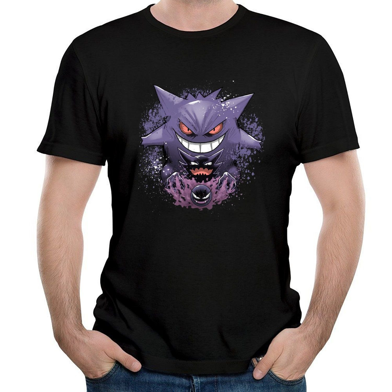 b3e9ab3d1 Amazon.com: ILONSE Men's Ghastley Haunter Gengar T Shirts Black: Clothing