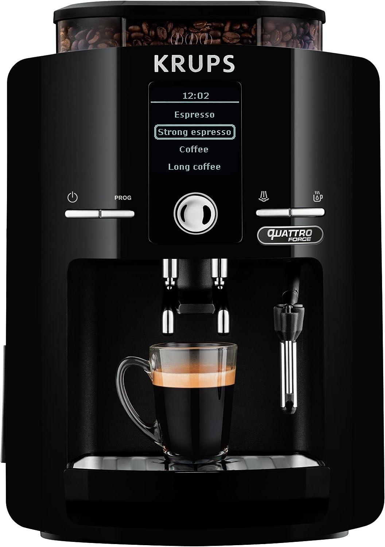 Krups EA82F0 Independiente Totalmente automática Máquina espresso 1.7L Negro - Cafetera (Independiente, Máquina espresso, 1,7 L, Molinillo integrado, 1450 W, Negro): Amazon.es: Hogar