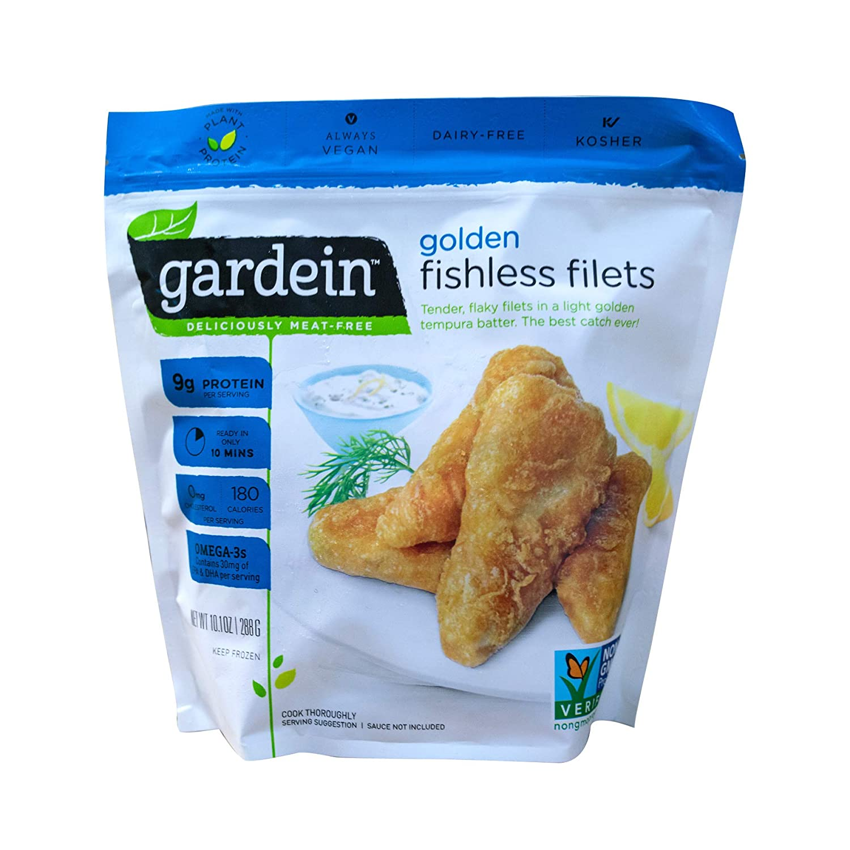 Gardein Golden Fishless Filets, Fish Free, Meatless Protein, 10 1 Ounce  (Frozen)