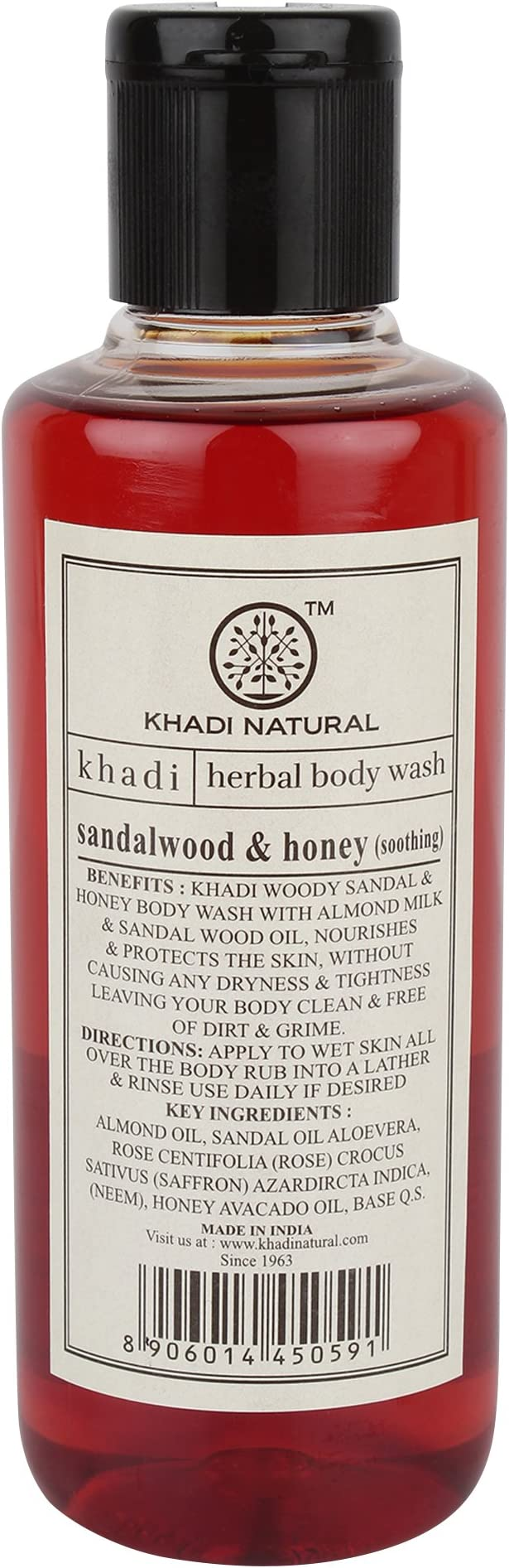 Khadi Sandalwood & Honey Body Wash
