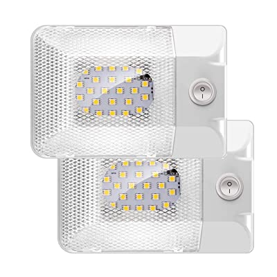 TURN RAISE LED 2 Pack 12V Led RV Ceiling Dome Light, 300LM RV Interior Lighting for RV,Car,Trailer,Boat,Camper, Single Dome,Natural White: Automotive