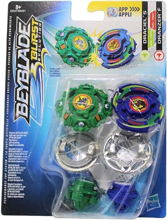 Hasbro Beyblade Burst Kreisel 2er Dual Pack Draciel S & Dranzer F ...