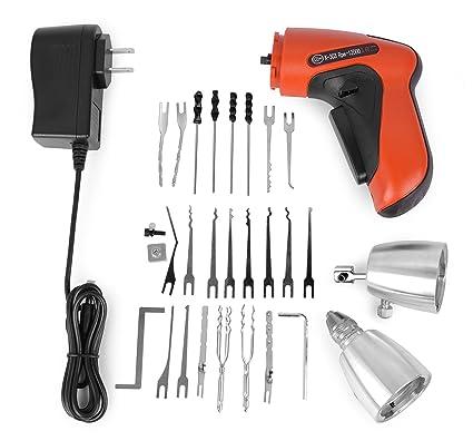 Godpick K303 Cordless Electrical Lock Pick Gun Locksmith Tool Kit with  25pcs Lock Pick Tools Easily Open Locks