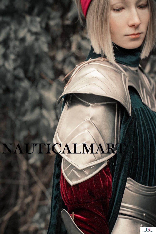 Halloween Steel Pauldrons Set Fantasy Shoulders Lady Warrior By NauticalMart by NAUTICALMART