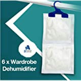 6 x Wardrobe Dehumidifier- Airsense® Hanging Wardrobe Dehumidifier Ideal to stop damp, mould mildew & condensation - Remove damp and improve air quality