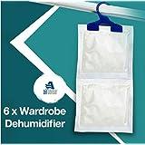 6 x Garde-robe Déshumidificateur- Armoire Suspendue déshumidificateur Idéal pour arrêt humide, moisissure mildiou & condensation - Enlever Humide et améliore air qualité