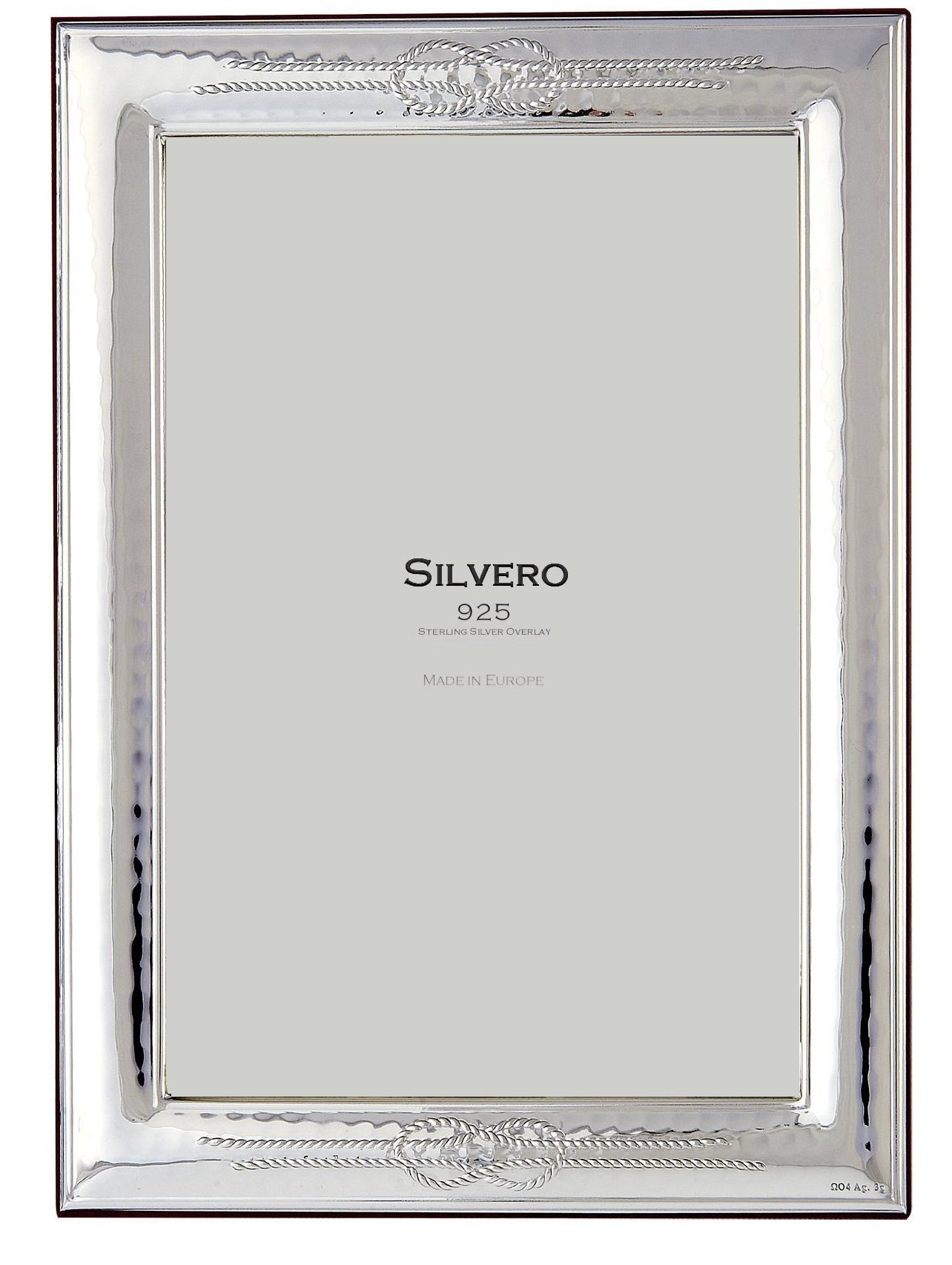 SILVERO 411W79 .925 Sterling Silver Overlay Knot 8x10 Frame