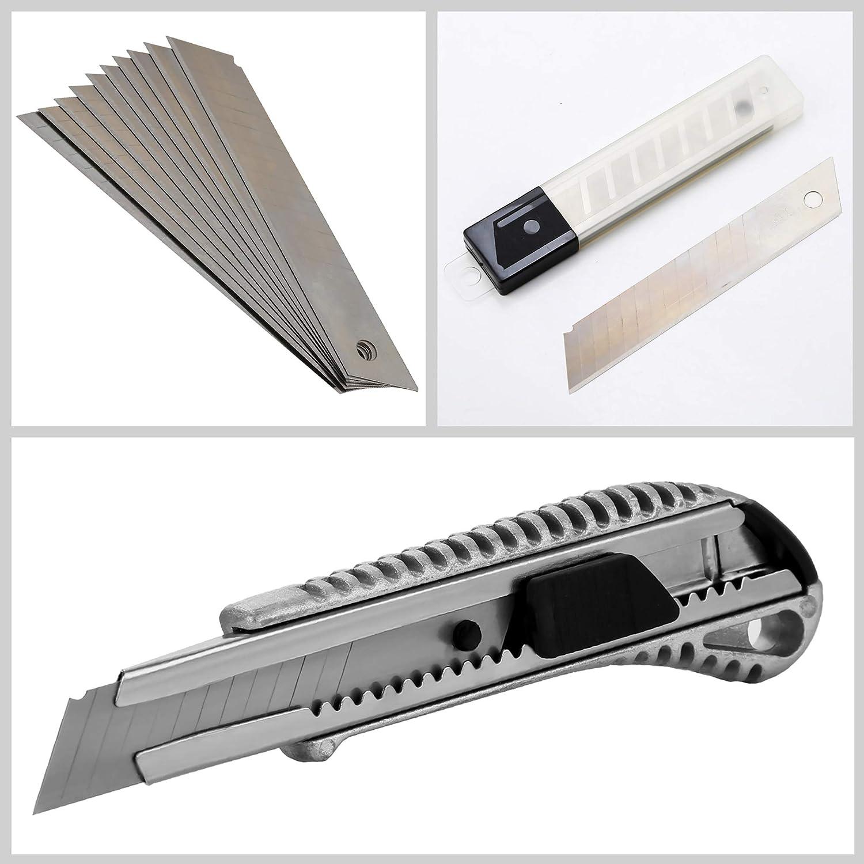 10x tador de hoja de 9 mm Cuchillo de uso general tambi/én para la elaboraci/ón 30 cuchillas