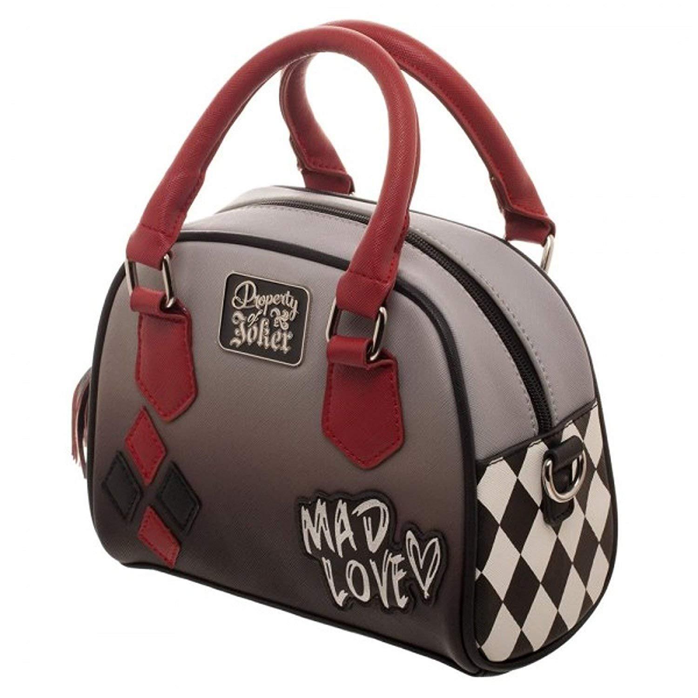 61af7161b8 Amazon.com: DC Comics Harley Quinn Mad Love Mini Bowler Handbag: Shoes