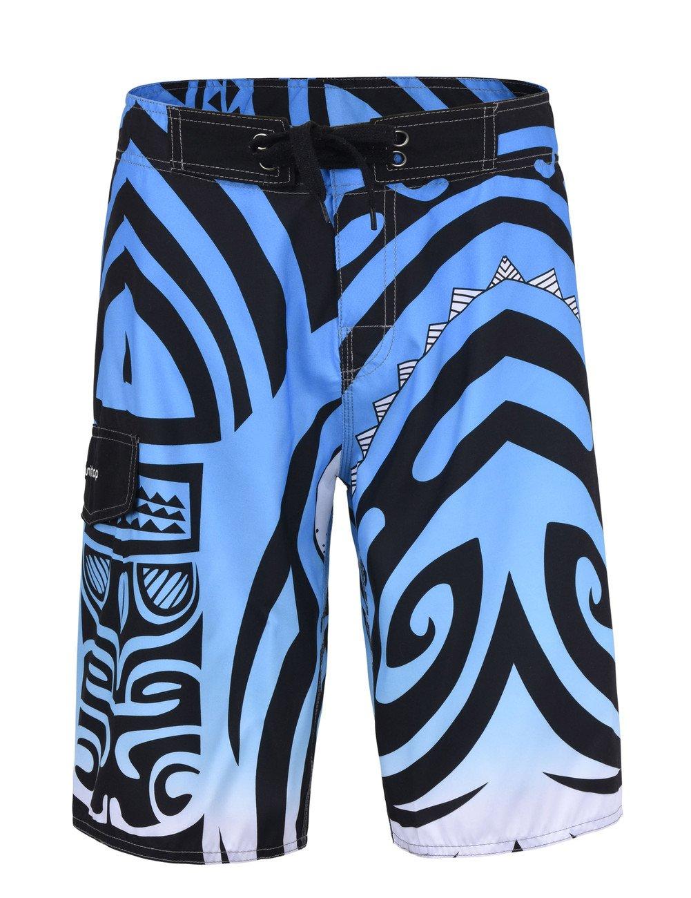 Unitop Men's Summer Holiday Trunks Board Shorts Blue 34