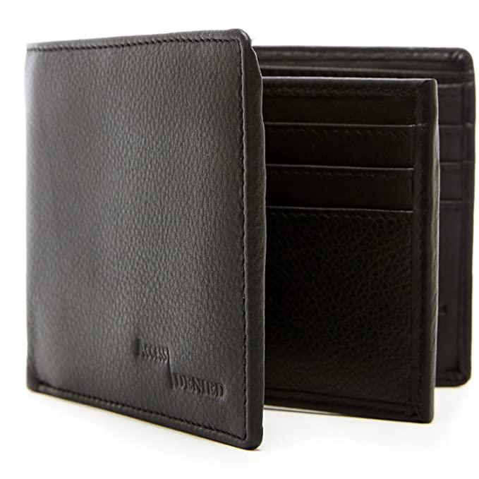 9e2be118e878 Genuine Leather Wallets For Men - Bifold Mens Wallet With ID Window RFID  Blocking