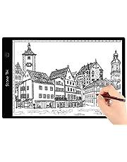 Mesa de Luz Dibujo A4, LED Tableta de Luz de Iluminación de la Caja de Alimentación Micro USB Ideal para Animacion Tatoo Dibuja