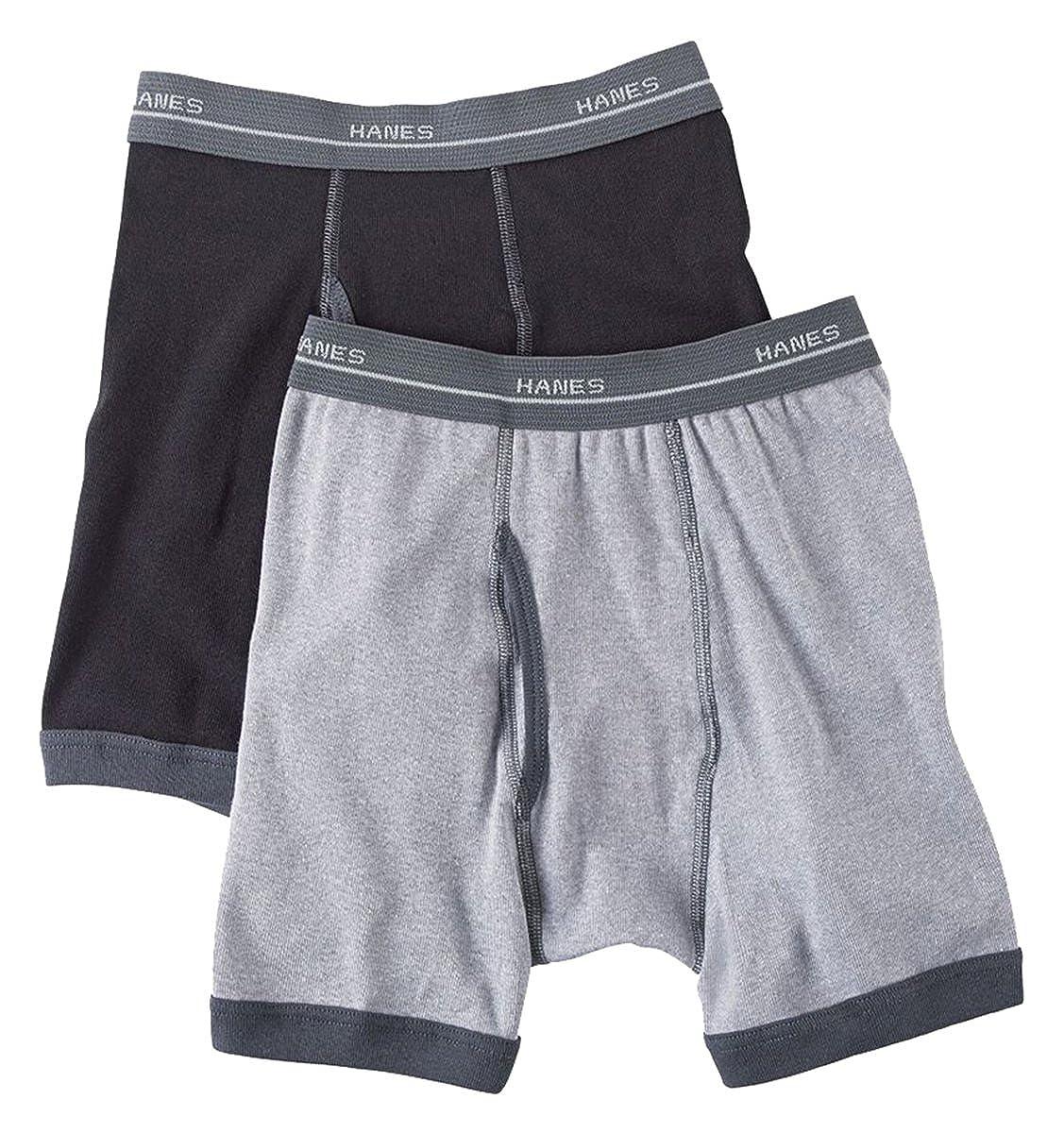 Hanes Boys Ringer Boxer Briefs 5-Pack/_Assorted/_Medium