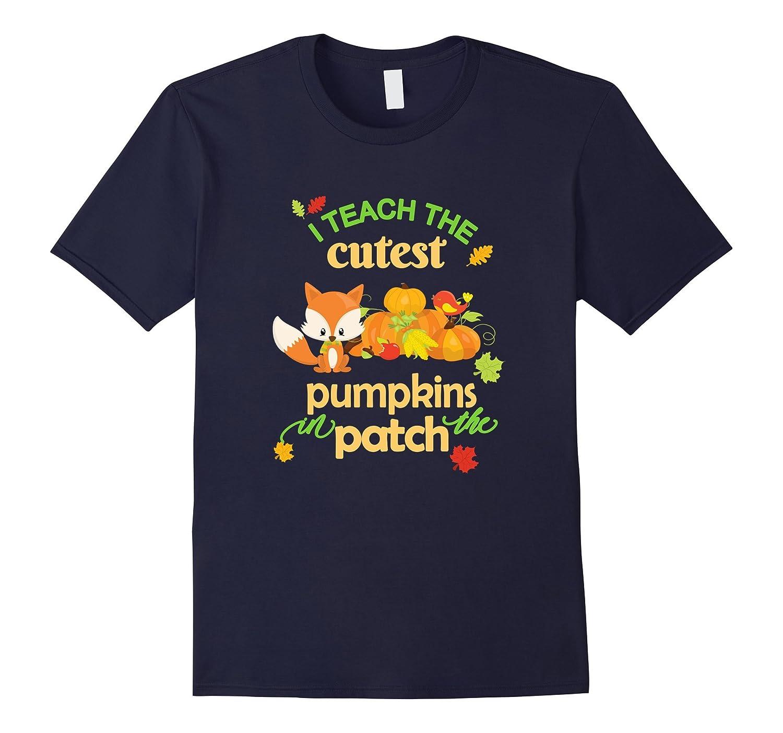 Teachers T-Shirt-Halloween-Fall I Teach the Cutest Pumpkins-T-Shirt