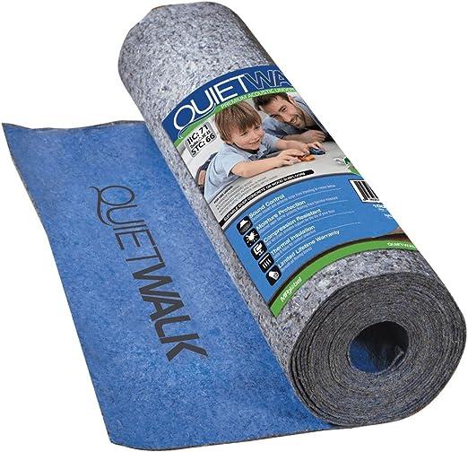 Amazon.com: MP Global Products QW100B1LT Suelo laminado con barrera de vapor adjunta que ofrece una reducción de sonido superior, resistente a la compresión y protección contra la humedad, 3 pies x 33 pies 4 pulgadas, azul: Home Improvement
