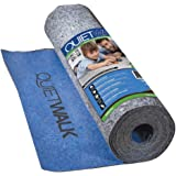 """MP Global Products QW100B1LT Laminate Flooring Underlayment with Attached Vapor Barrier Offering Superior Sound Reduction, Compression Resistant and Moisture Protection, 3' x 33'4"""", Blue"""