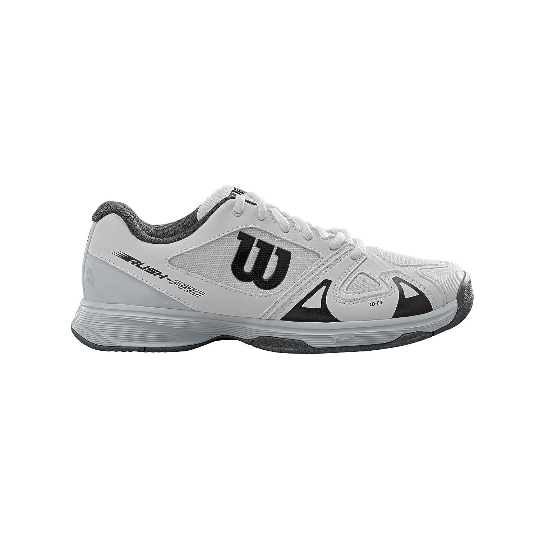 Wilson Rush Pro Junior - Zapatillas De Tenis de material sintético infantil, color blanco, talla 36