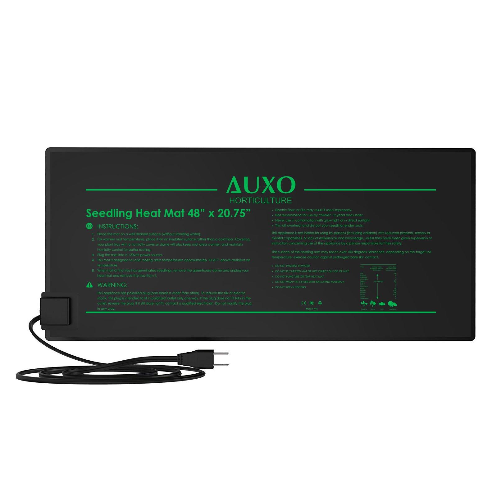 Auxo Horticulture 48'' x 20.75'' Multifunction Waterproof Seedling Heat Mat Warm Heating Pad