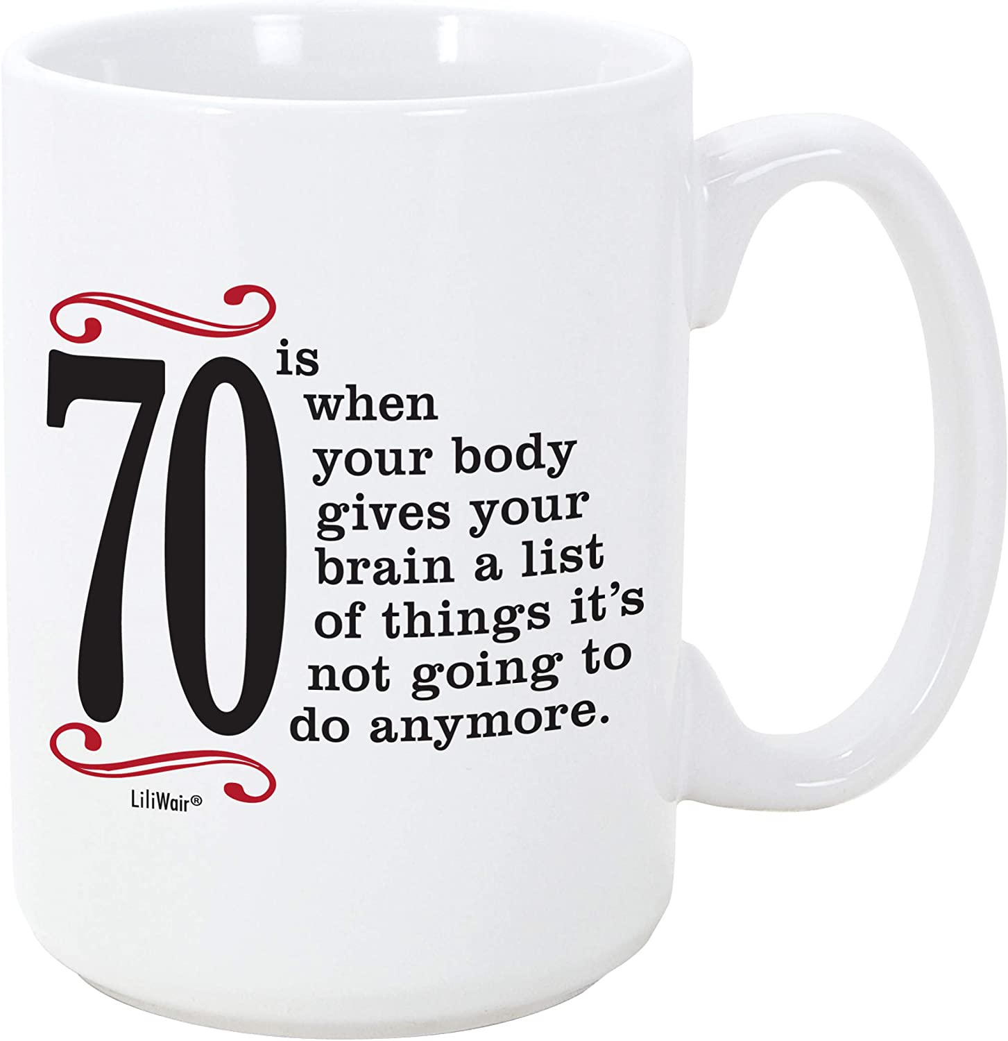 1950 70th Birthday Gifts Men Women   Birthday Gift for Man Woman turning 70   Funny 70 th Party Supplies Decorations Ideas   Seventy Year Old Bday Coffee Mug   70 Years Gag Office Cup