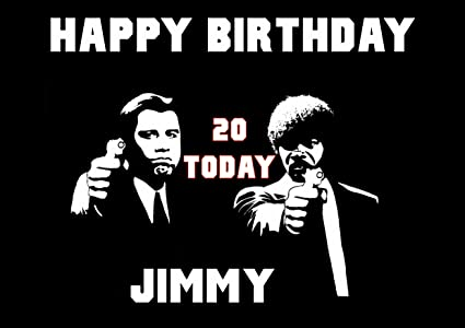 Pulp Fiction Mafia Birthday Card Customized With Your Name And Age