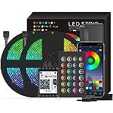Aibecy Smart Wifi LED RGB Strip Lights IP65 à prova d'água 32,8 pés.Luzes que mudam de cor 5050 com 24 teclas remotas e APP
