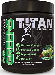PURGREENS: Complete Superfood Greens Formula with Probiotics and Digestive Enzymes to Promote Healthy Weight, Improved Digestion, and Increased Recovery