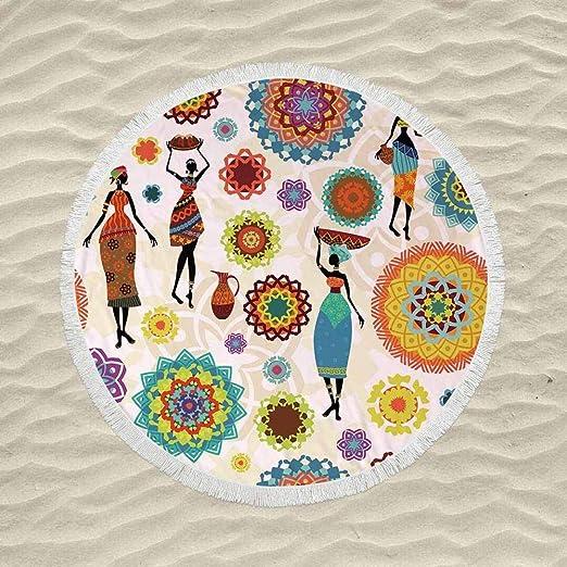 SATAJNN Toalla de Playa Mujeres africanas Adultos impresión ...