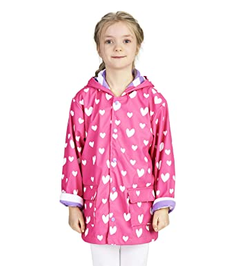 f688a8e38 Hatley Girls' Little Printed Raincoats, Color Changing Sweethearts 2