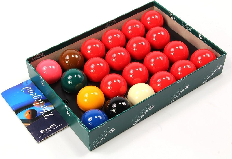 Aramith Aramtih Snooker Juego de Bolas de Billar (5,23 cm): Amazon ...